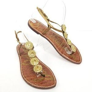 Sam Edelman Medallion Thong Flat Sandals Sz 8